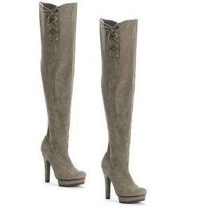Jennifer Lopez sz 6 Lisette gray thigh high boots